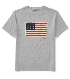 Ralph Lauren Little Boys Andover Heather Flag T-Shirt