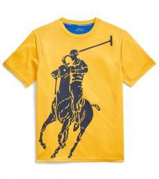 Ralph Lauren Boys Slicker Yellow Big Pony Performance T-Shirt