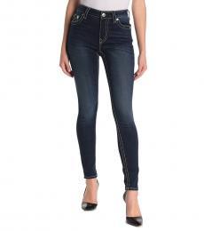 True Religion Dark Blue High-Rise Jennie Jeans