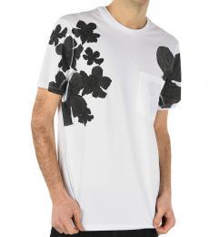 Neil Barrett White Floral Printed T-Shirt