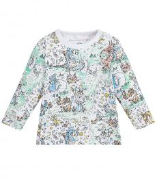 Stella McCartney Baby Girls White Graphic T-Shirt