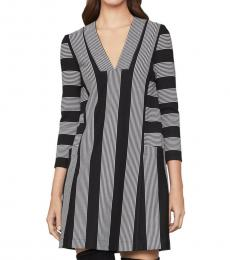BCBGMaxazria Black Striped Tunic Dress