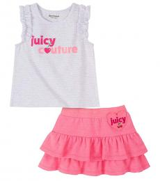 2 Piece Top/Scooter Skirt Set (Little Girls)
