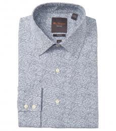 Ben Sherman Blue Tailored Stretch Fit Dress Shirt