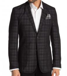 Vince Camuto Dark Grey Two Button Lapel Jacket