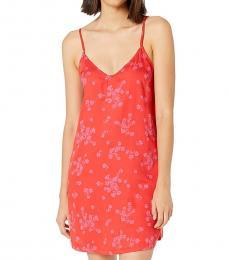 Orange Relaxed Fit Slip Dress