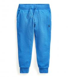 Little Boys Dockside Blue Heather Mesh Joggers