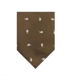 Brown Printed Tie
