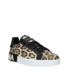 Dolce & Gabbana Leopard Print Low Top Sneakers