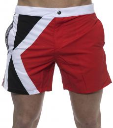Karl Lagerfeld Red Logo Swimshorts