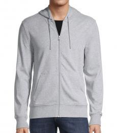 Michael Kors Grey Full-Zip Hoodie