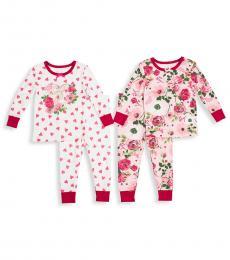 Betsey Johnson 4 Piece T-Shirts/Pajama Set (Baby Girls)