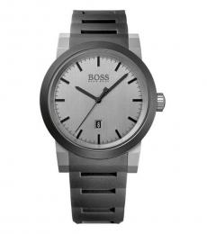 Hugo Boss Silver Neo Logo Watch