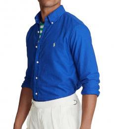 Royal Blue Garment-Dyed Classic Fit Shirt