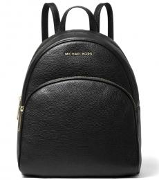 Michael Kors Black/Gold Abbey Medium Backpack