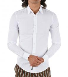 Armani Jeans White Slim Fit Shirt
