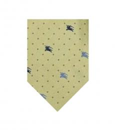 Burberry Light Yellow Dots Logo Tie