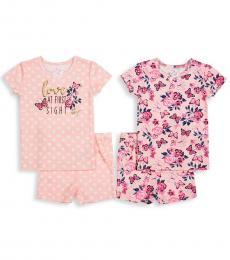 Betsey Johnson 4 Piece T-Shirt/Shorts Sets (Little Girls)