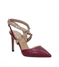 Violet Rockstud Strap Heels