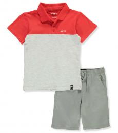 DKNY 2 Piece Polo/Shorts Set (Baby Boys)