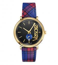 Versace Purple Gold Logo Watch