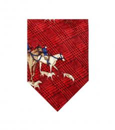Dolce & Gabbana Red Horse Print Tie