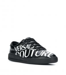Versace Jeans Black Signature Print Sneakers