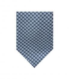 Michael Kors Blue Houndstooth Tie
