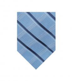 Michael Kors Blue Subtle Check & Stripe Tie