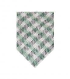 Michael Kors Green Two-Tone Gingham Tie