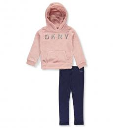DKNY 2 Piece Hoodie/Leggings Set (Little Girls)