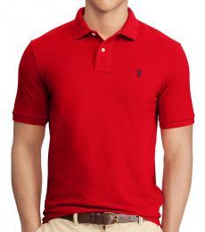 Ralph Lauren Red Interlock Standard Fit Polo