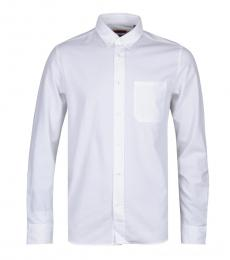 Hugo Boss White Ermann Oxford Shirt