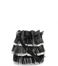 Proenza Schouler Black Fringe Small Bucket Bag