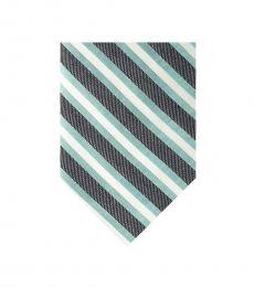 Calvin Klein Aqua Awning Stripe Slim Tie