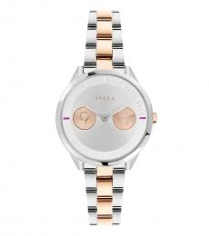 Furla Silver Metropolis Two-Tone Watch
