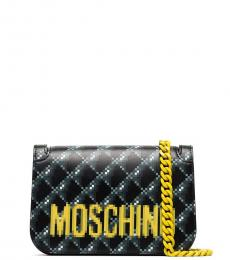 Moschino Black Graphic Small Crossbody