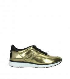 Hogan Gold Iconic Sneakers