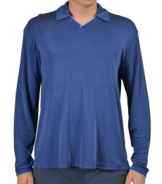 Blue Polo V-Neck Sweater