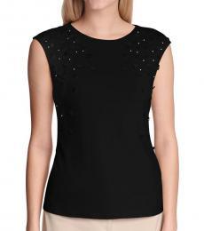 Calvin Klein Black Sequined Embellished Top