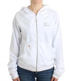 Just Cavalli White Zipup Jacket