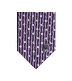 Versace Violet Embroidered Tie