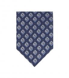 Michael Kors Grey-Blue Shadowed Halo Square Tie