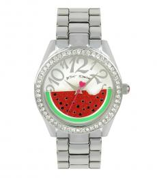 Silver Rotating Watermelon Watch