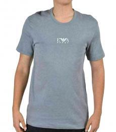 Emporio Armani Grey Crewneck Logo T-Shirt