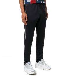 Black Solid Jersey Trousers