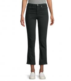 Sulfur High-Rise Straight Cropped Jeans