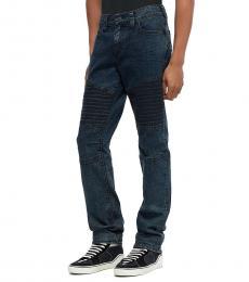 Navy Blue Geno Moto Jeans