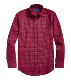 Ralph Lauren Wine Multi Classic-Fit Gingham Shirt