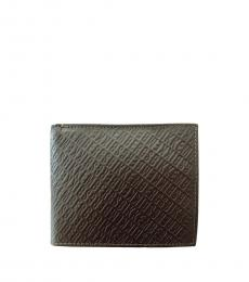Bikkembergs Brown Stripe Billfold Logo Wallet